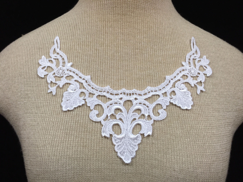 White venise lace applique lace appliques guipure applique etsy
