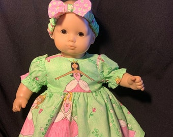 "Bitty Baby Doll Clothes Handmade 4 15/"" Dolls Blue Checkered Daisy Dress  Pantie"