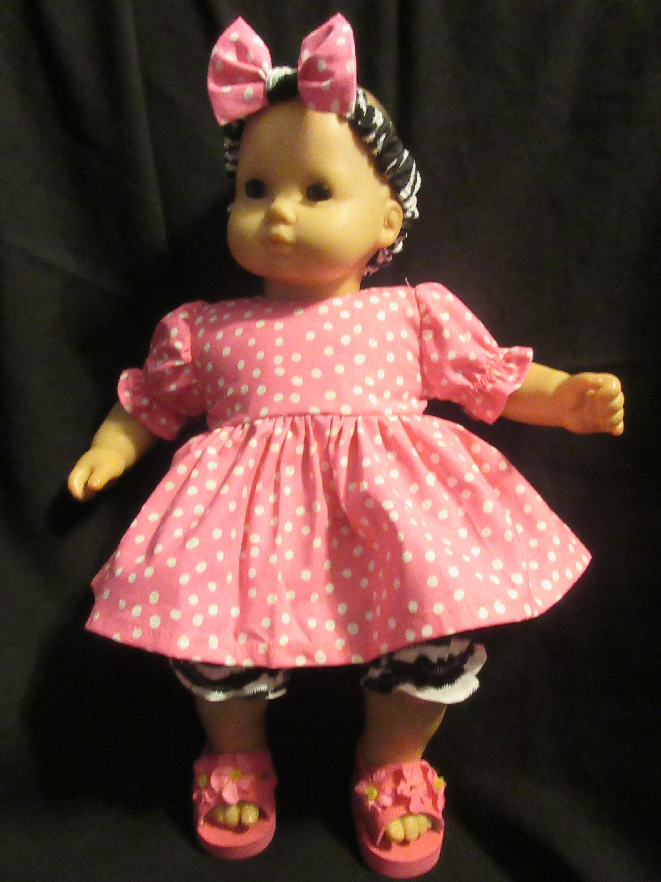"Bitty Baby Doll Clothes Made 4 American Girl 15/"" Christmas Snowman Bunting  C"