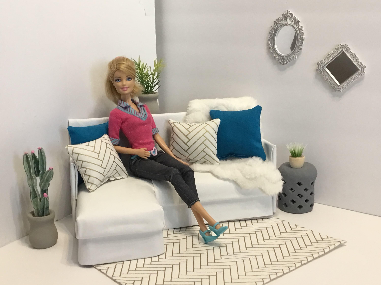 Möbel Schnitt Sofa Für Barbie Mode Fashion Royalty Etsy