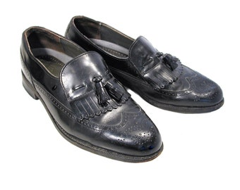 10974b8f977 80s Men s Black Kiltie Loafers 8-1 2 C