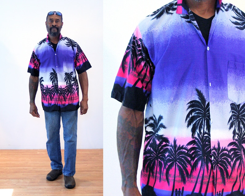 87d36c9c 90s Surfer Aloha Shirt M Hawaiian Beach Tropical Men's | Etsy