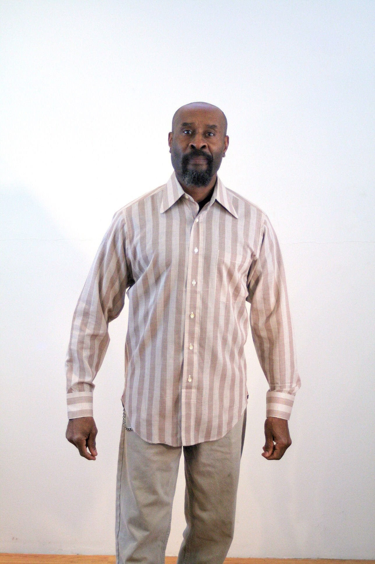 1970s Men's Shirt Styles – Vintage 70s Shirts for Guys 70S Jordan Marsh Micro Plaid Shirt M, Vintage Mens Mini Tattersalls Hathaway Button Up, 15 - 34 Medium $18.90 AT vintagedancer.com