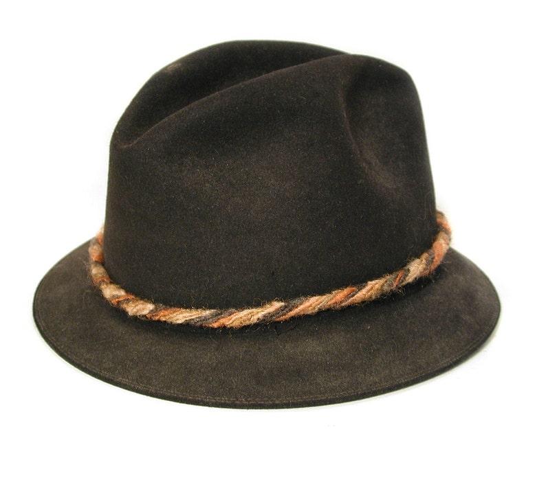 974abde404 60s Black Trilby Hat S Men's Classic Vintage Stingy Brim | Etsy