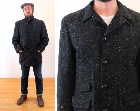 1930s 40s Flecked Coat M L, Mighty Mac Gloucester