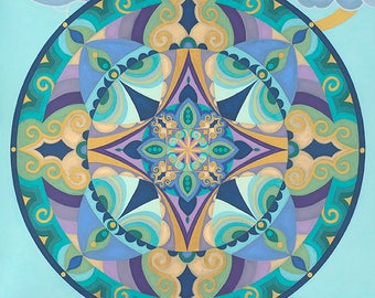 Hope Floats - Original Mandala Painting