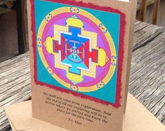 Inspirational Mandala Quote Card