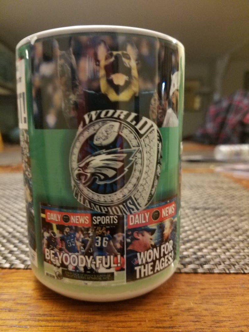 Eagles Champs 15 Ounce Coffee Cup Etsy