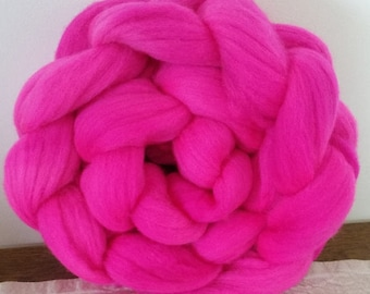 Wool Roving- In the Pink