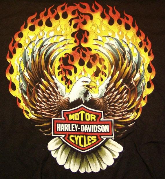 Harley Davidson Tshirt 1990 Original Vintage Deadstock T Shirt Etsy
