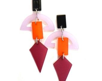 SALE Geometric Resin Earrings
