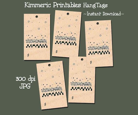 primitive checks stars digital u print hang tags for etsy