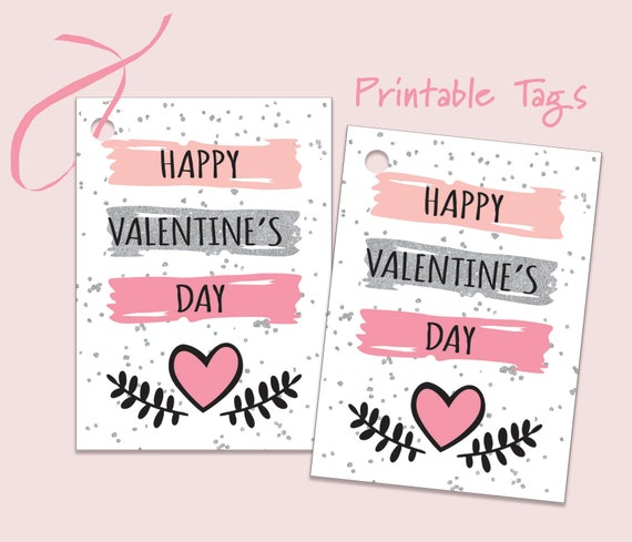 INSTANT DOWNLOAD Printable Valentine's Day TagsParty
