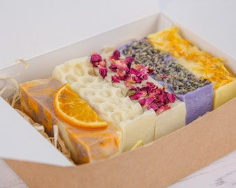 Handmade Shea Butter Soap Gift Box - 5 Soaps Mothers Day