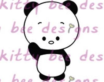Panda Cutie Digital Stamp
