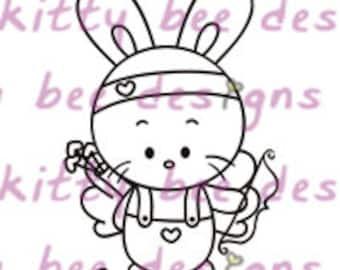 Cupid Bun Digital Stamp