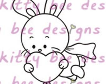 Super Bun Valentine Digital Stamp