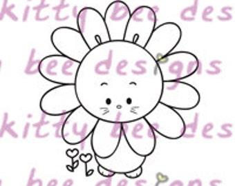 Sunflower Bun Digital Stamp