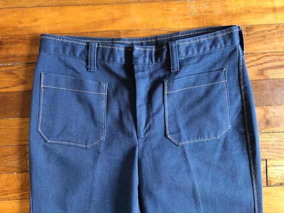 Vintage 1970s Denim Bell Bottom Jeans - image 3