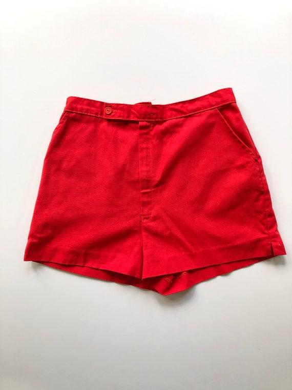 Vintage Red High Waist Shorts