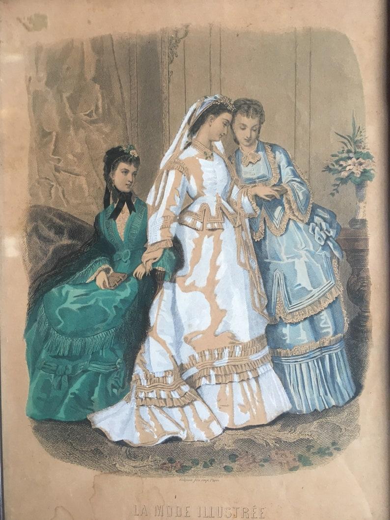 Vintage La Mode Illustree Bureaux Du Journal 56 Rue Jacob Etsy