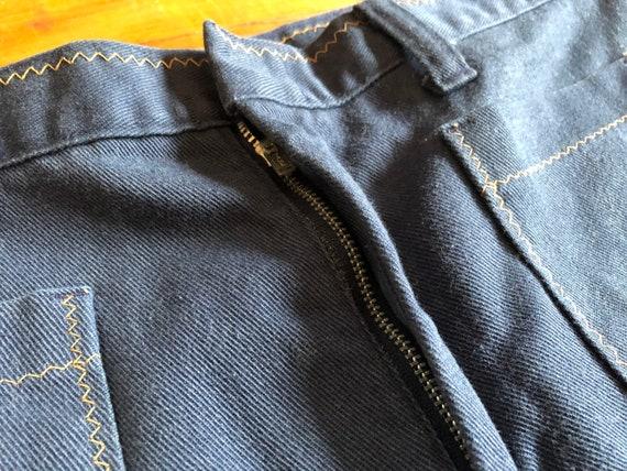 Vintage 1970s Denim Bell Bottom Jeans - image 7