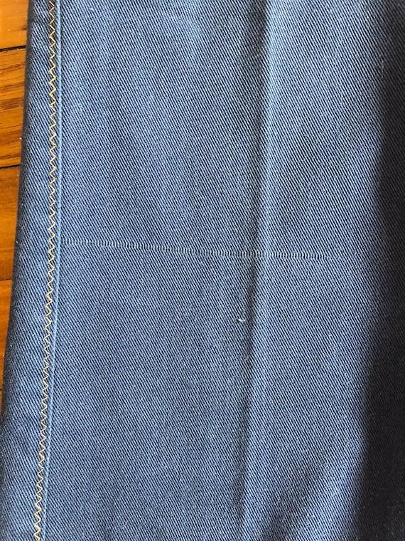 Vintage 1970s Denim Bell Bottom Jeans - image 10
