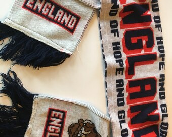 England Land of Hope and Glory football/soccer scarf