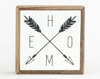 Home Sign Arrows ∆ signs for home ∆ mini ∆ wooden signs ∆ wood signs with sayings ∆ arrow wall decor ∆ sign for home ∆ home decor wall art