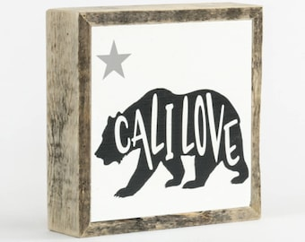Cali Love Sign ∆ mini ∆ California gift ∆ wooden signs ∆ wood signs with sayings ∆ sign for home ∆ home decor wall art ∆ signs for home