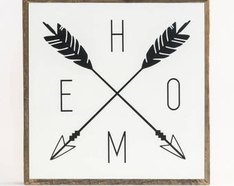 Home Sign Arrows ∆ signs for home ∆ medium ∆ wooden signs ∆ wood signs with sayings ∆ arrow wall decor ∆ sign for home ∆ home decor wall art