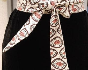 431c64abe8c7 Ceinture tissu wax, ceinture obi, tissu style africain, réversible lin  couleur naturel