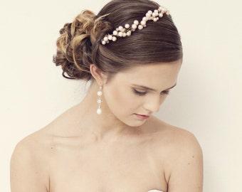Pearl crown, Pearl wedding tiara, Pearl tiara, Pearl flower crown, bridal tiara, pearl wedding, Bridal headpiece