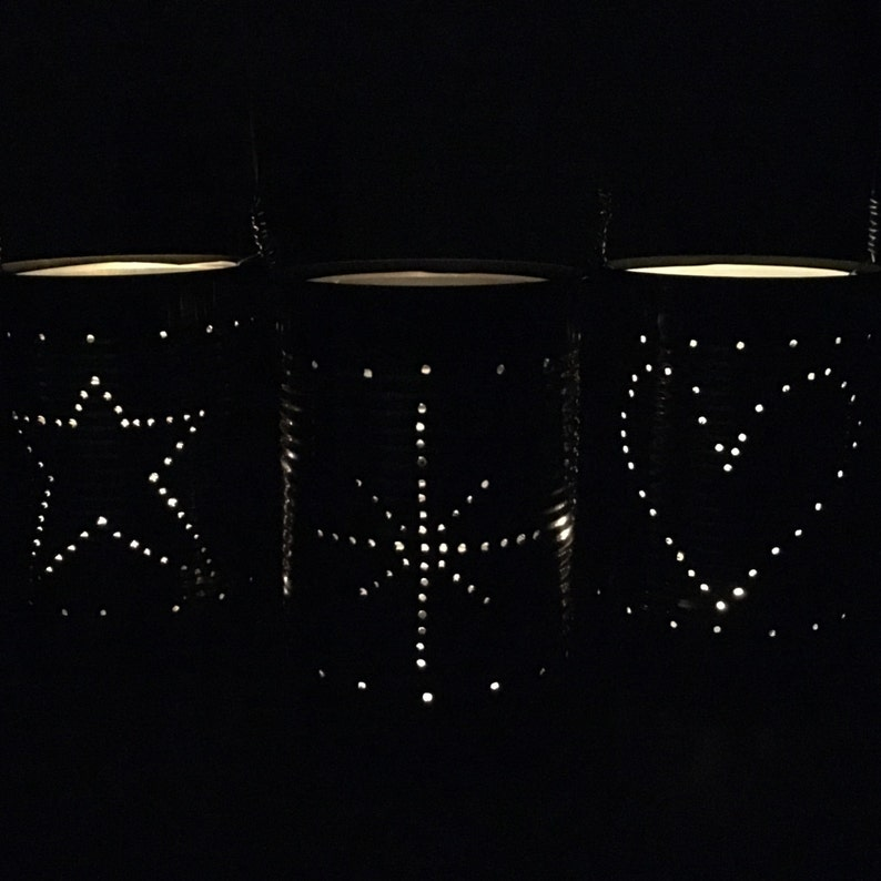 Upcycled Tin Can Lanterns Table Decoration Etsy