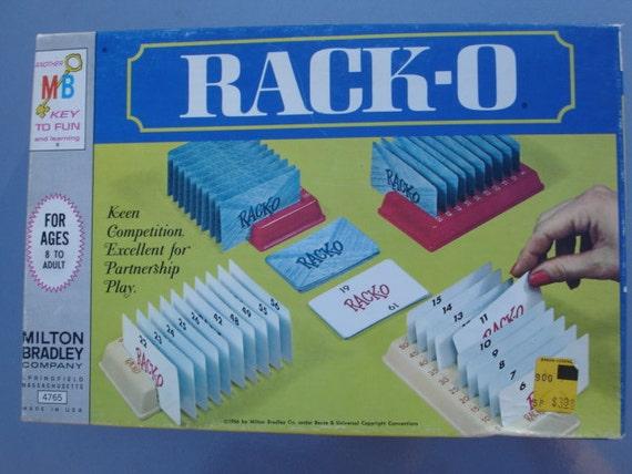 Vintage 1960s Rack O Card Game Etsy