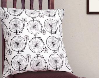 Penny Farthing Cushion