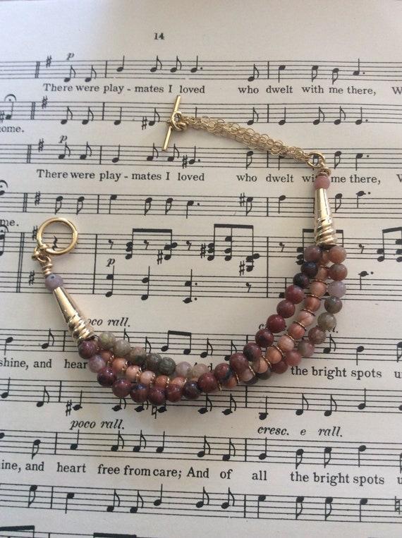 Multistrand jasper and chain bracelet!