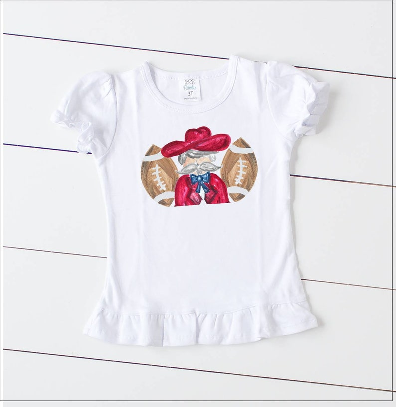 7a8973205 Colonel Reb Ruffle tee Fall shirts for kids Rebels T shirt