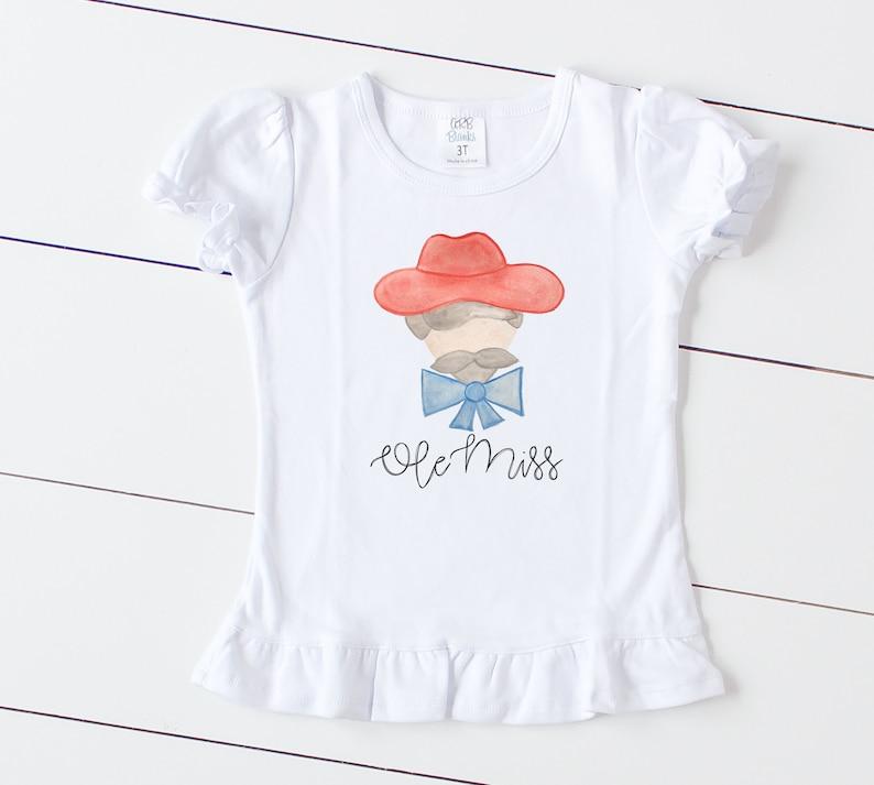 91f14e462 Custom Ole Miss Ruffle tee Fall shirts for kids Rebels T   Etsy