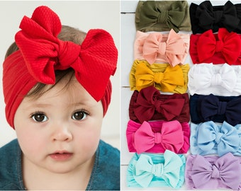 9e7453bab33 Big Bow Nylon Baby Headband