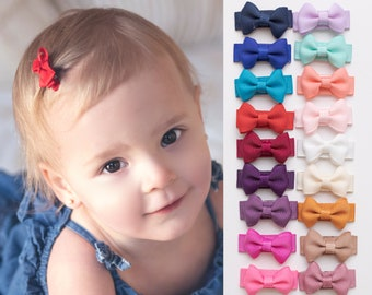 Handmade Pigtail Bows 3 sets Hair Clips baby hairbands baby bows