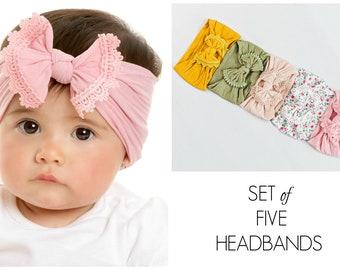 512279f92449f Baby Headband SET