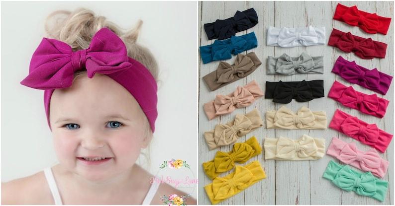 CLEARANCE SALE Baby Headbands Girls Head wraps Messy Bow  ff32b8e92dd