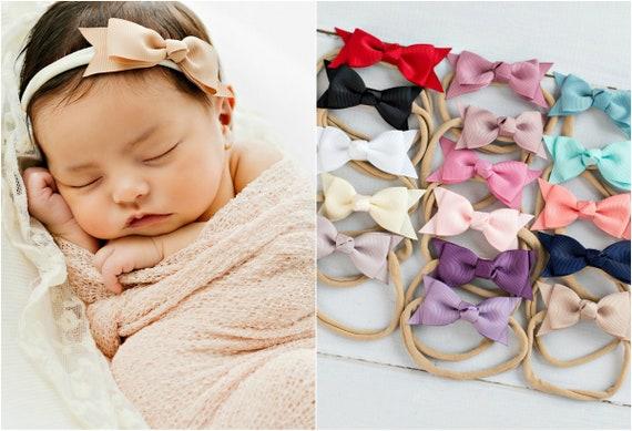 newborn headbands baby hair bows baby headband bows Pink baby headband baby bow headbands bow headband baby girl headband