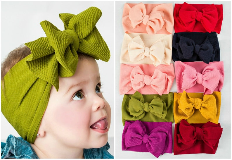 Big Bow Headwrap Baby Headband top knot headbands head  ac61d2a4981