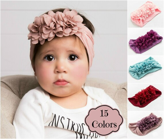 THIN Soft Nylon Headband for baby and adults  Premium Infant /& Baby Headbands One Size Fits All Headband Lilac Nylon Headband BULK
