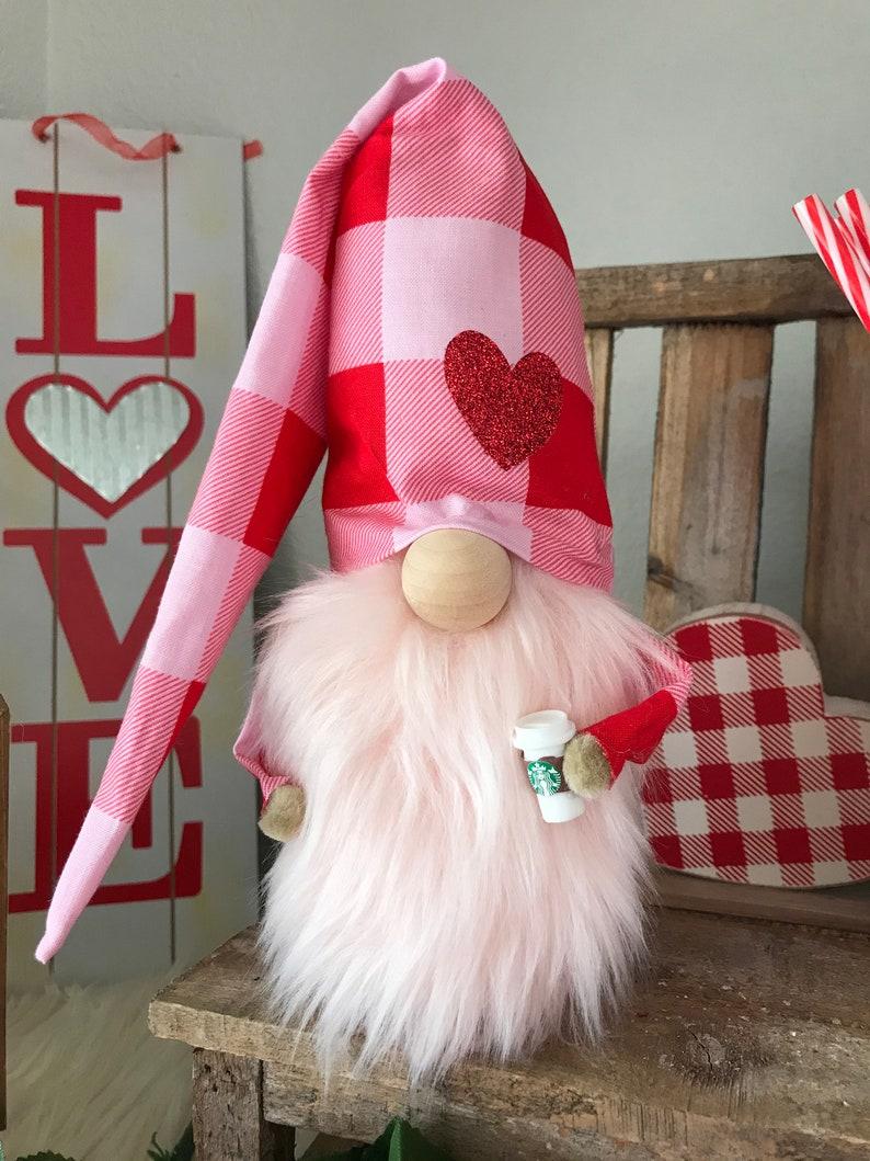 Valentine Gnome with Coffee