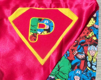 AWESOME personalized Avenger cape. Boy Avenger cape with personalized initial monogram emblem. FREE personalization.