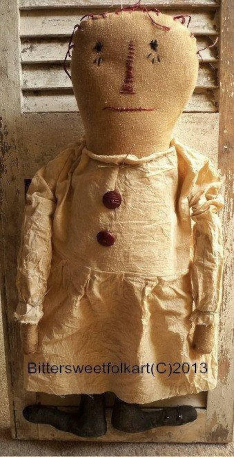 ~~ Primitive Gingerbread Doll w//baby ~~ PATTERN #66