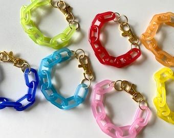 Jelly acrylic chain bracelet